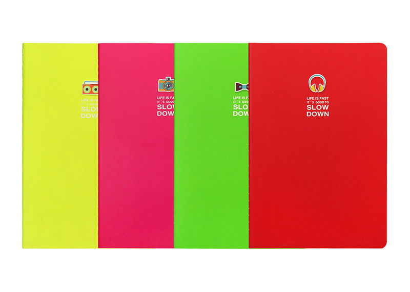 Pocket Blank Custom Printed Notebooks Sewned Stapled Binding Solid Color